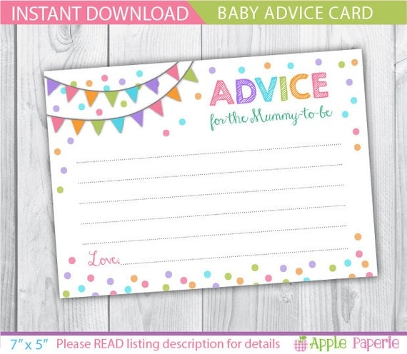 Pin Words Of Wisdom Baby Shower Card On Pinterest
