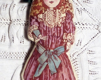 hand painted vintage doll - natural