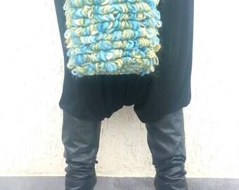 Crochet bag, crochet purse, turquoise purse, knitted purse, loom purse, modern crochet, handmade purse, small bag, loom bag