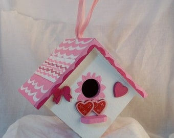 Hand Painted Decorative Romance Birdhouse
