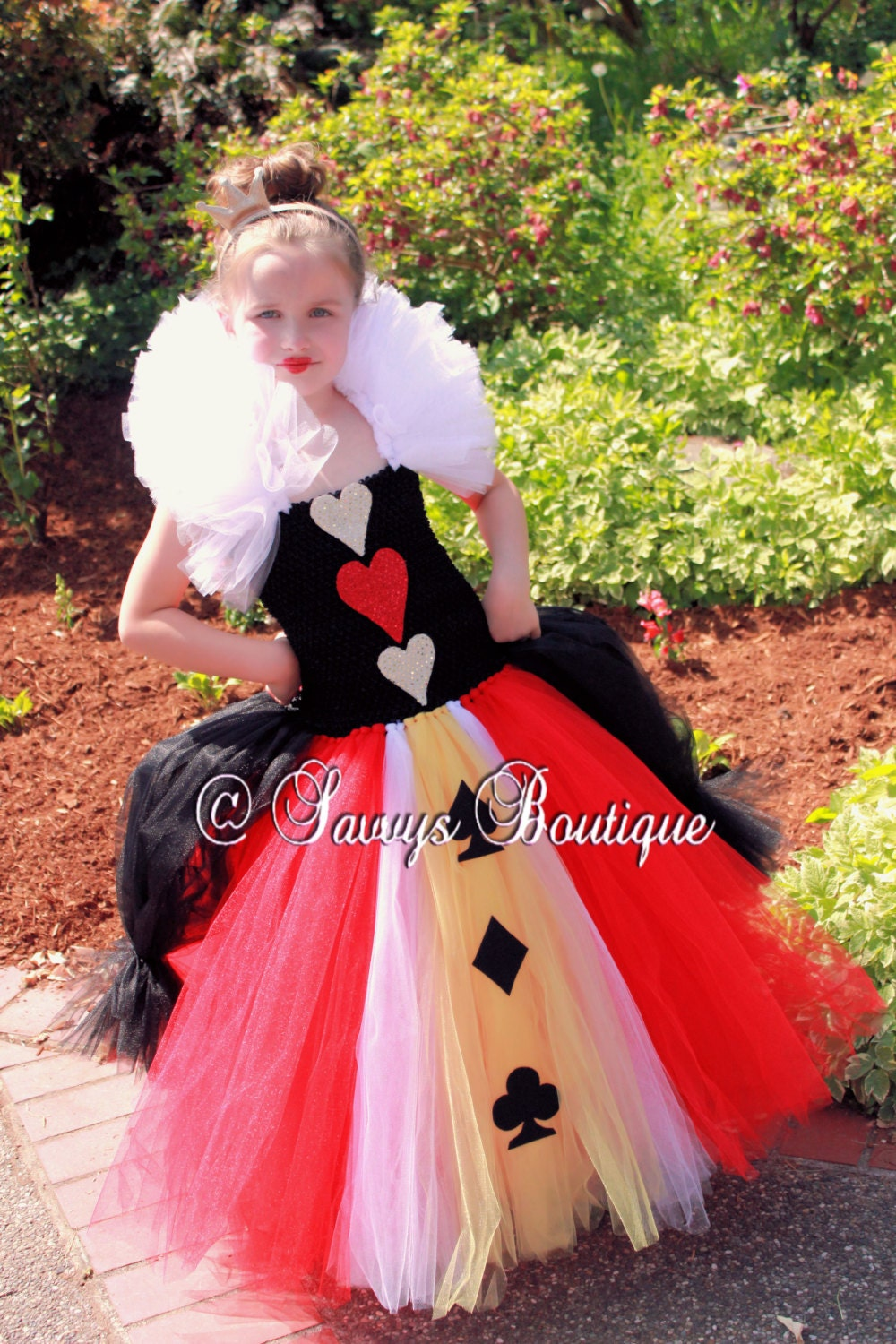 Queen Of Hearts Costume Diy Tutu Girls Queen Of Hearts ...