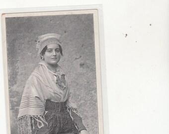 France Circa 1910 Brionnaise Young Woman Antique Postcard Unused