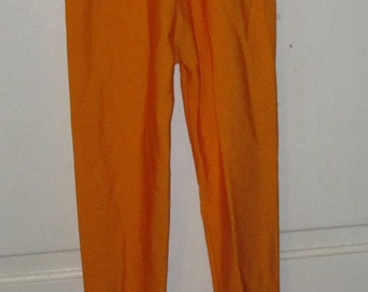Vintage Bright Disco Orange Womens Girls Stretch Leggings New with Tags Never Worn