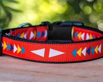 Geometric Dog Collar / Arrows Dog Collar /Australian Dog Collar