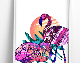 """Flamingo Roost from """"Wild"""" collection."""