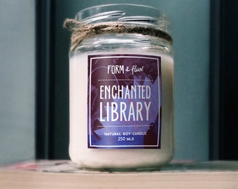Enchanted Library - Jam Jar Candle