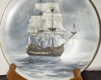 """From the ten plate series """"Legendary ships of the Seas"""" Collectors plate """"The Flying Dutchman"""""""