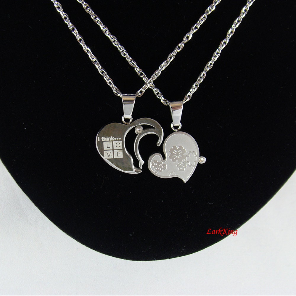 heart necklace for couples - photo #3