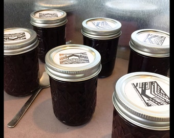 Six pack Mulberry Jam, 6 half-pint jars home orchard mulberries, We Grow What We Sell