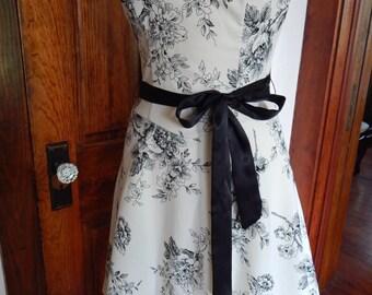 White 1950's inspired dress