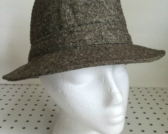 Vintage Fedora Hat Brown United Hatters Cap & Millinery Workers Union USA