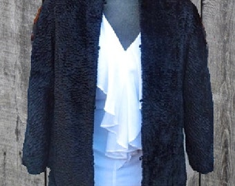 VINTAGE Real LAMBS WOOL Reversible jacket