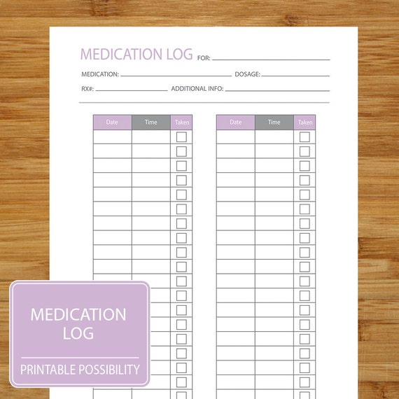 Nerdy image intended for printable medication logs