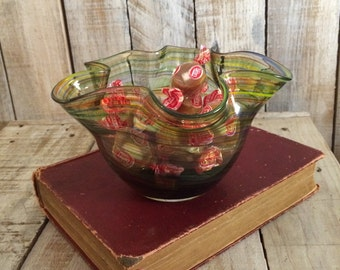Murano Glass Bowls - Glass Candy Bowl - Art Glass Bowl - Candy Bowls - Art Glass Murano Bowl