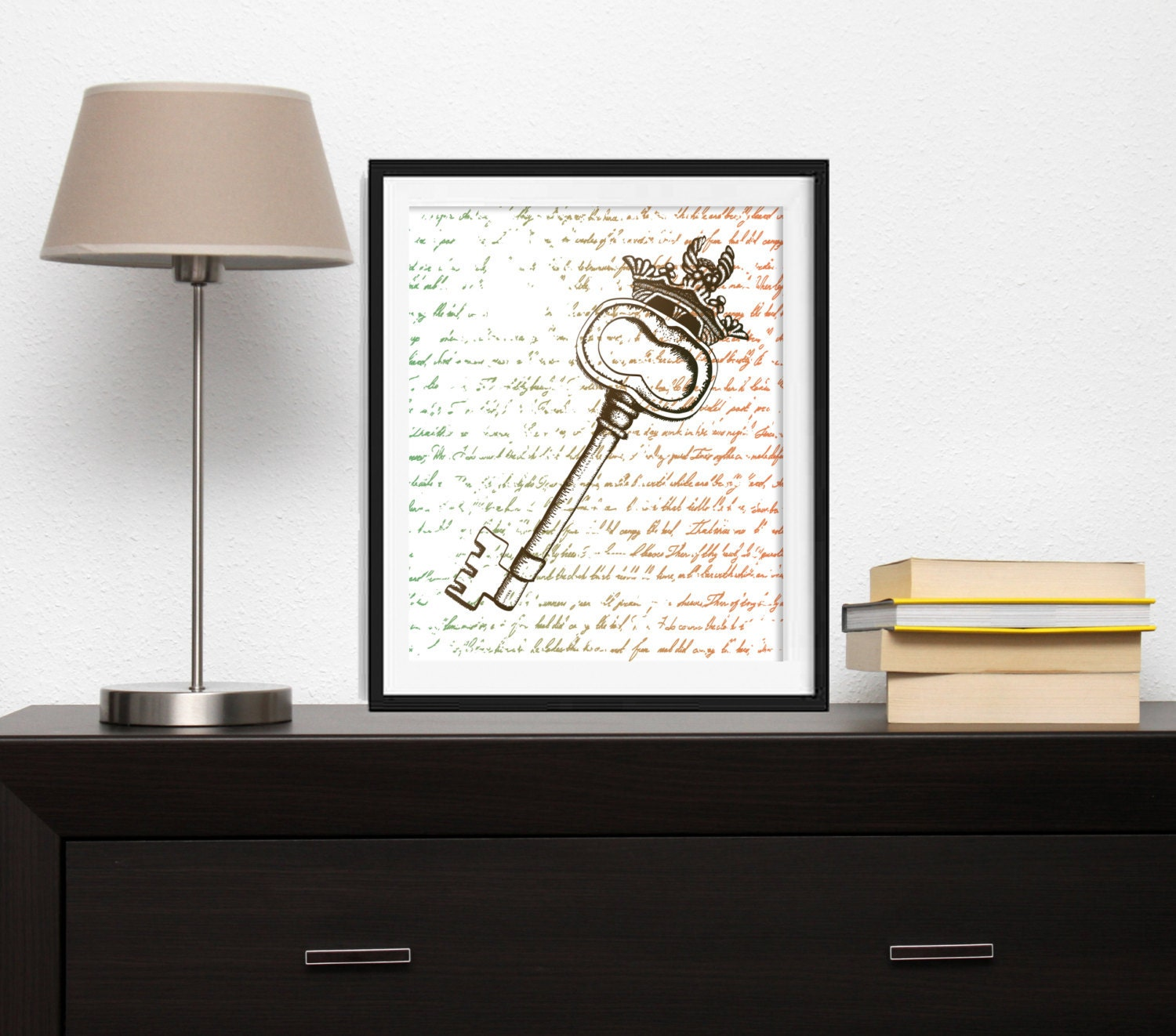 Wall Decor Keys : Key wall art decor typography