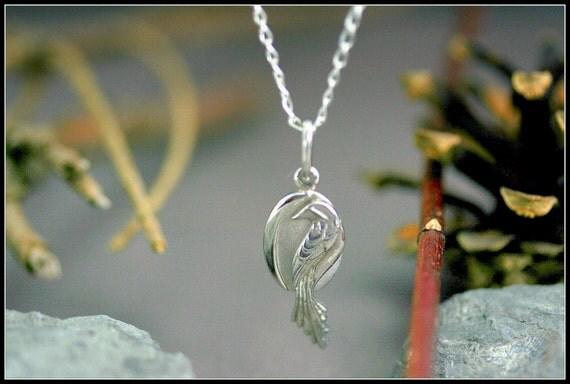 Bijoux Fait Main Argent : Pendentif phenix argent oiseau bijoux symbole femme