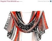 Super SALE Silk Chiffon Scarf, Summer Scarf, Silk Scarf, Women Gifts, Pattern Scarf, Flower Scarf, hair scarf, Women Scarves, head scarf,