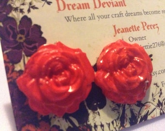 Rose Earrings ***BUY 3 GET 1 FREE***