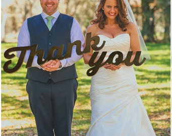 Thank You Wedding Prop for Wedding Thank You Cards, Wooden Letters, Choose Your Color