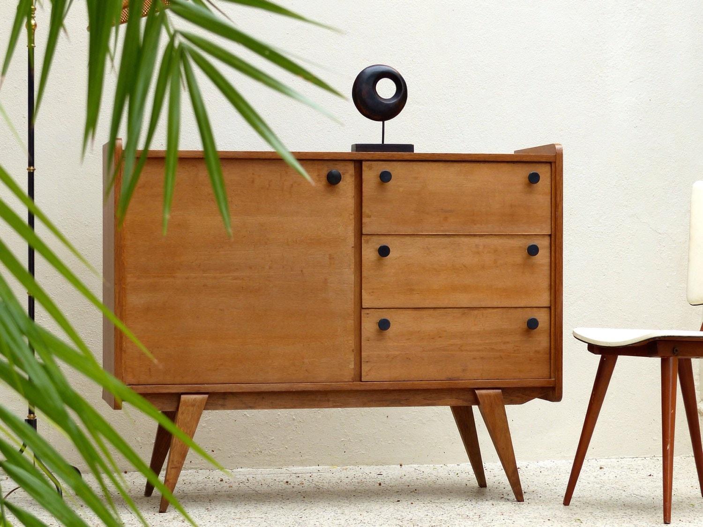 buffet commode enfilade vintage en ch ne haute juice. Black Bedroom Furniture Sets. Home Design Ideas