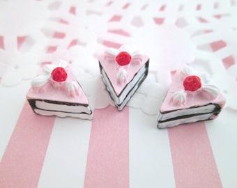 Pink Layer Cake Slice Cabochons Decoden Kawaii, #141b