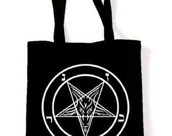 Pentagram Cotton Tote Shopping Bag