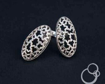 """ring """"biphasic"""" sterling silver design, adjustable"""