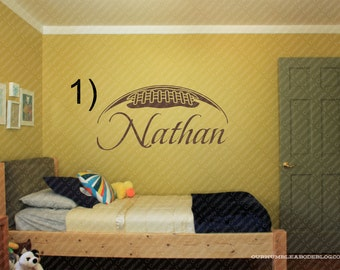 Personalized Football With Name  Wall Decal #1 ,Personalized Wall Decal,Sports Wall Decals,custom Wall decal,vinyl decal,custom wall quot