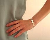 Personalized Bar Bracelet - Custom Sterling Silver Bracelet -  Nameplate Bracelet .Secret Message Engraved. Two sides engrave Nameplate Bar