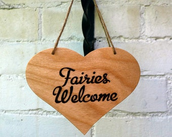 Fairies Welcome Outdoor Garden sign