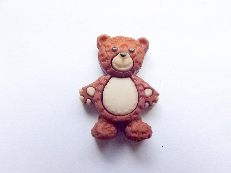 Bear Pin Brown Bear Teddy Bear Lapel Tie Tack ID By