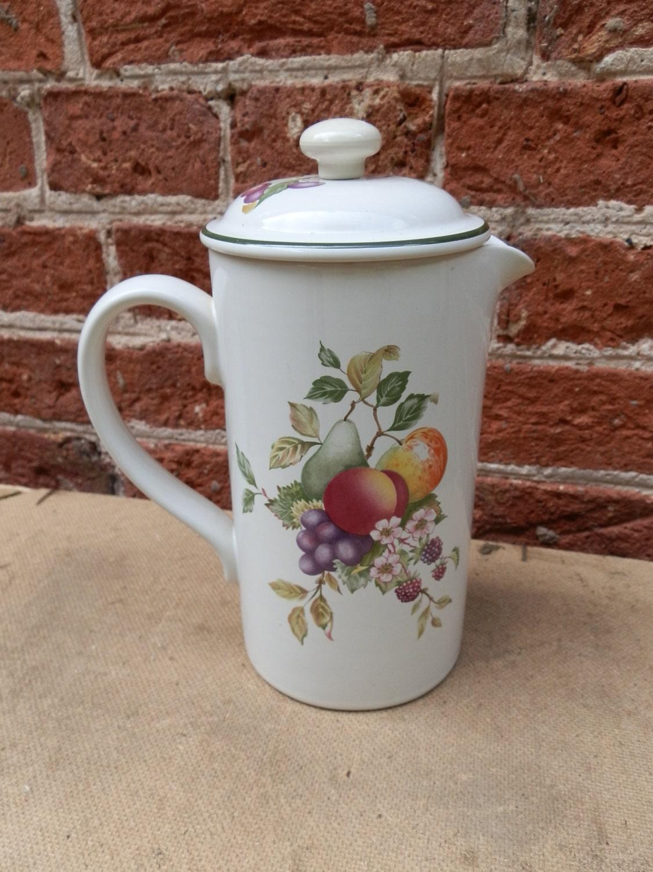 Vintage Cloverleaf Pottery Cafetiere Fresh Fruit Design