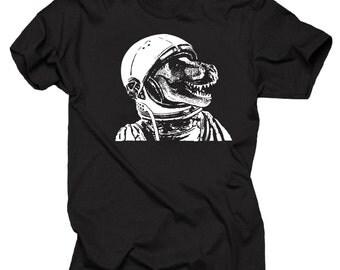 T-Rex Astronaut Funny Tee Shirt Space T-Rex Shirt