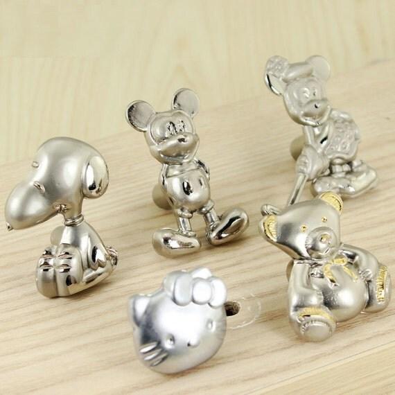 Children room knobs cartoon drawer pull handle dresser knobs for Children s bureau knobs