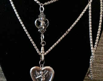 Edwardian Chain Necklace With Locket