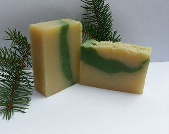 Camp Soap, Fir Needle Soap, Pine Soap, All Natural Handmade Soap, Rustic Beard Soap, Welcome to the Camp/Cabin Soap, Camping Soap