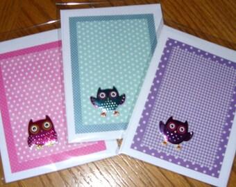 Owl Blank Greeting Card Pack