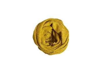 Tie Dye Silk Scarf : Goldenrod Kanoko Shibori Silk Scarf