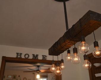 light vintage light bar light reclaimed wood fixture swag light rustic. Black Bedroom Furniture Sets. Home Design Ideas