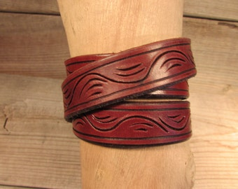 """3/4"""" Wide Triple Wrap Leather Bracelet"""