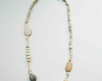 long bone beaded necklace