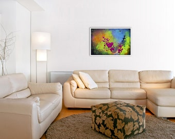 Abstract Landscape GICLEE PRINT of Photo-Painting Digital Collage 'Valley'