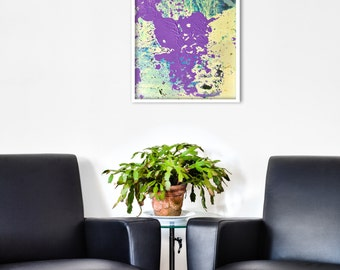Abstract Landscape GICLEE PRINT of original Digital Collage 'Fountain'