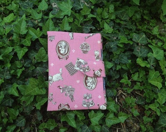 Alice in Wonderland kindle case, e-reader case, shabby chic reader case, pink kindle case, nook case