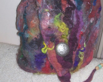 felted wool pouch