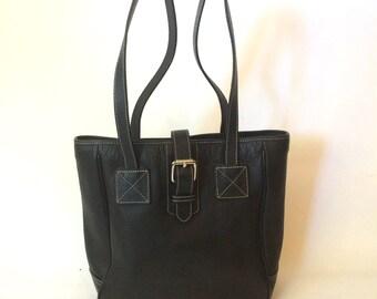 REDUCED - Vintage Dooney & Bourke Bucket Bag All Weather Pebbled Leather Shoulder Bag
