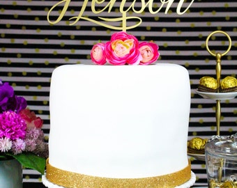 Wedding Cake Topper Customized with Mr and Mrs Last Name