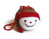 Christmas Tree Ornaments Home Decor Xmas Christmas Decoration Crochet Snowman Xmas Decoration Tree Decoration
