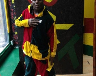 Joy To Your Body! JRT Mens VELOUR TRACKSUIT Hand made Rasta Clothing