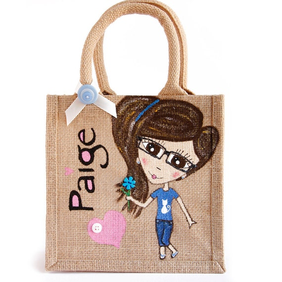 Hand Painted Small Tote Bags For Kids